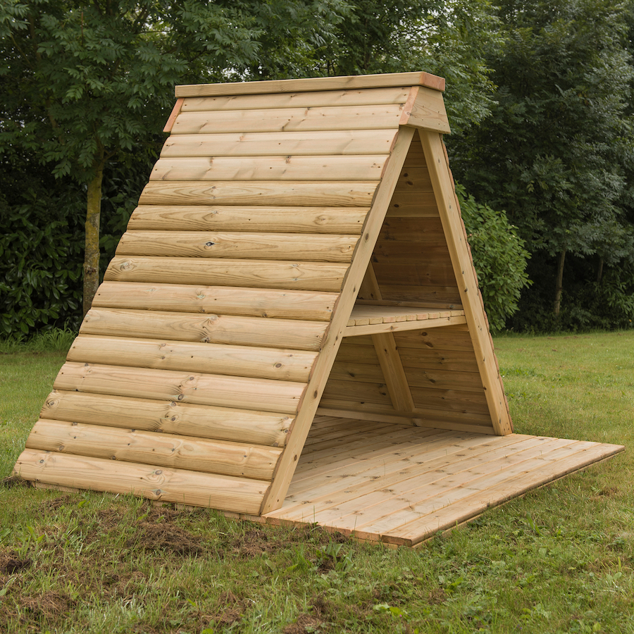 Buy Outdoor Wooden Hideaway Play House And Platform Tts