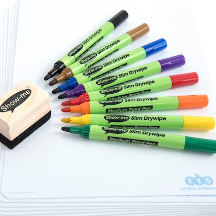 Show\-me® Dry Wipe Pens Medium Tip  large