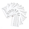 Multiplication Times Tables Keyrings 10pk  small