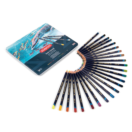 Derwent Inktense Assorted Colouring Pencils 24pk  large
