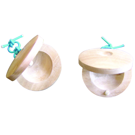 Wooden Castanets Pair  large