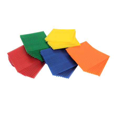 Coloured Plastic Binca Squares 100 x 100mm 50pk  large