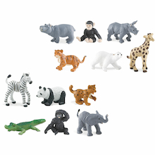 Small World Zoo Animal Babies Set 12pcs  medium