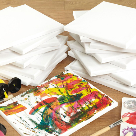 Stretched, Primed Canvas 25 x 30.5cm 20pk  large