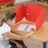 Pop\-Up Concentration Desk Barrier Red  small