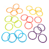 Soft Rubber Activity Rings 24pk  small