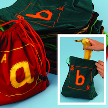 Fabric Alphabet Letter Bags  medium