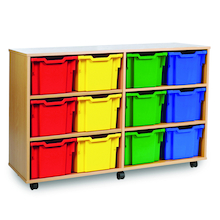 Mobile Tray Storage Unit With 12 Extra Deep Trays  medium