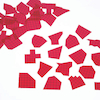 Transparent Plastic Irregular Shapes 35pcs  small