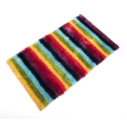 Rainbow Striped Soft Rug  large