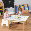 Toddler Low Square Table H380mm  small