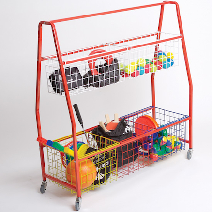 Storage Trolley with Mesh Baskets  large