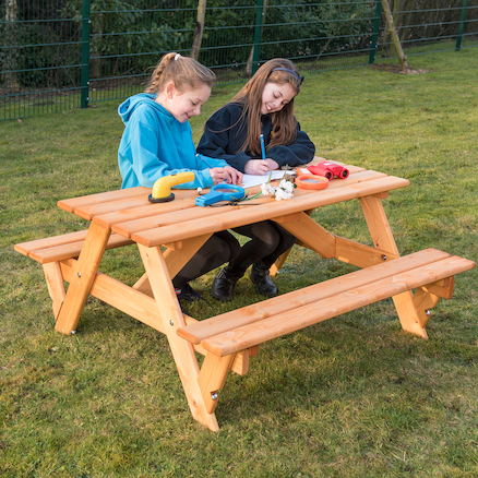Rectangular Infant Height 6 Seater Picnic Bench  large