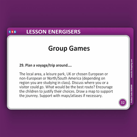 Geography Lesson Energisers KS1 and KS2  large