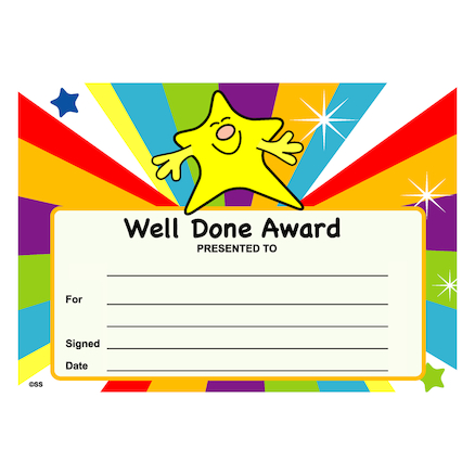 Assorted Praise Certificates 140pk  large