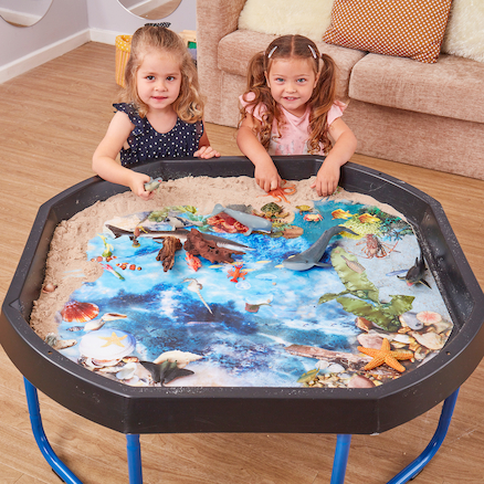 Active World Tuff Tray Ocean Deep Photographic Mat  large
