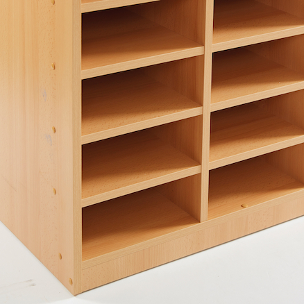 Open Storage Unit with 30 Small Compartments  large