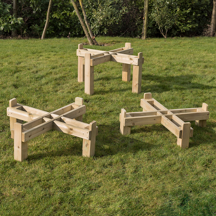 Outdoor Wooden Frame for Active World Trays  large