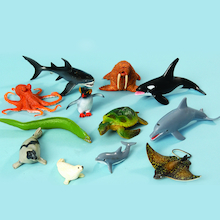 Small World Sea Life Animals 12pcs  medium