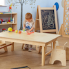 Natural Wooden Folding Early Years Table  small