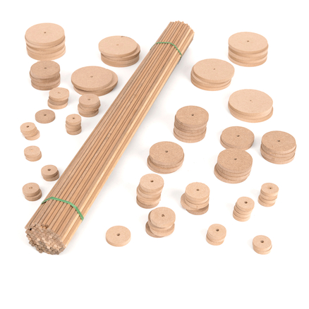 Wooden Dowels \x26 Wheels Pack  large