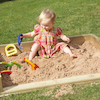 Outdoor Wooden Crawl in Sand Box  small