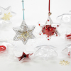 Clear Fillable Christmas Gift Ornaments 12pk  small