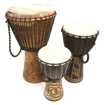 Painted Djembe Drums  large