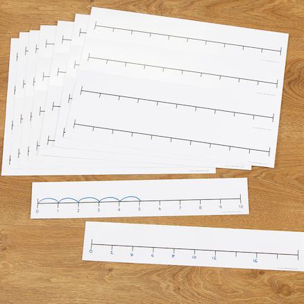 Double Sided Desk Top Number Line Blue  large