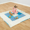 Teal Textured Baby Mat and Cushions  small