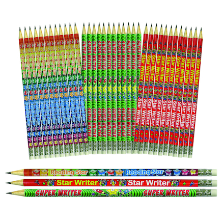 Writing And Reading Reward Pencils 36pk