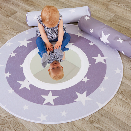 Mirrored Baby Mat with Padded Bolster Cushions  large