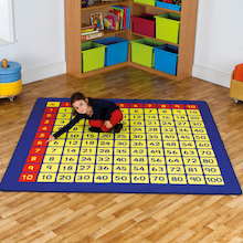 Giant 100 Number Squares Mat 2 x 2m  medium
