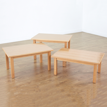 Beech Veneer Rectangular Table and Chairs  large