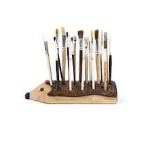 TTS Wooden Paint Brush/Pen Holder  medium
