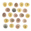 Number Pebbles Engraved Number Stones Sums 50pcs  small