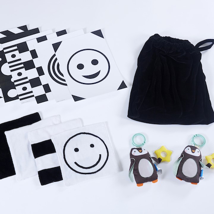 Baby Black and White Accessory Set  large