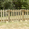 Outdoor Wooden Portable Fence Panels 7pk and Gate  small