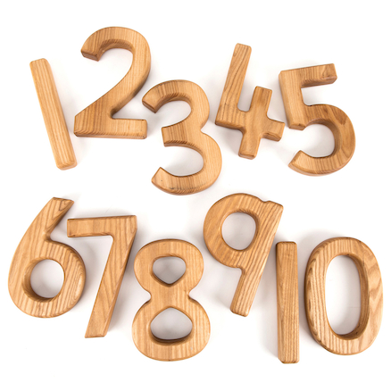 Chunky Wooden Number Collection 1\-10  large