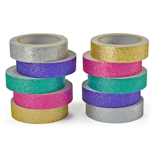 Glitter Craft Tape 10pk  medium
