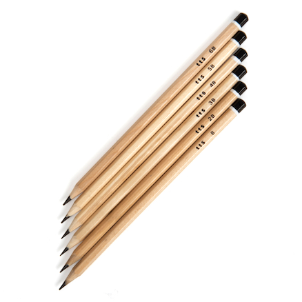 TTS Sketching Pencils Assorted  large