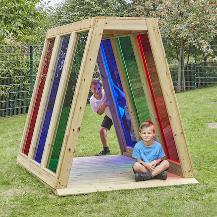 Outdoor Rainbow Pyramid  large