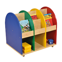 Wooden Mobile Book Storage Unit  medium