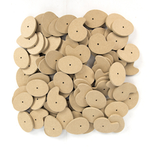 Assorted Wooden Cams 4mm Hole 90pk  medium