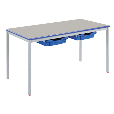 Fully Welded Rectangular Tray Table L1100mm  large