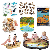 Small Wold Treasure Island Tuff Tray Bundle  medium