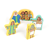 Joseph and His Coat of Many Colours Wooden Symbols  small