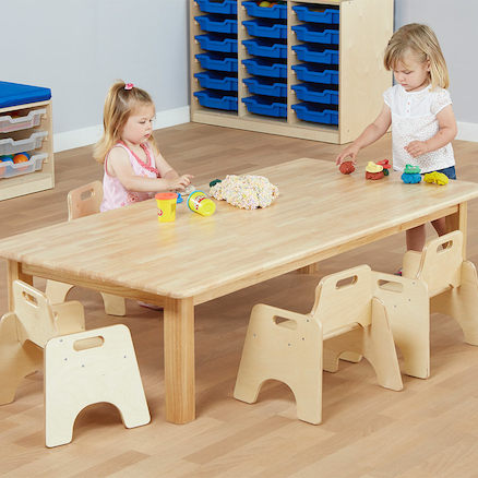 Large Natural Wooden Table H400mm  large