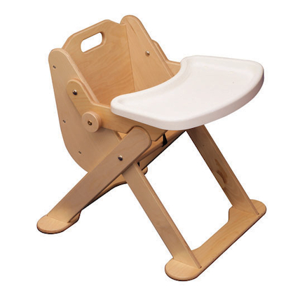 Low Level Wooden Feeding Chair with Tray  large