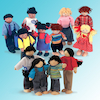 Small World Multicultural Doll Family Multibuy  small